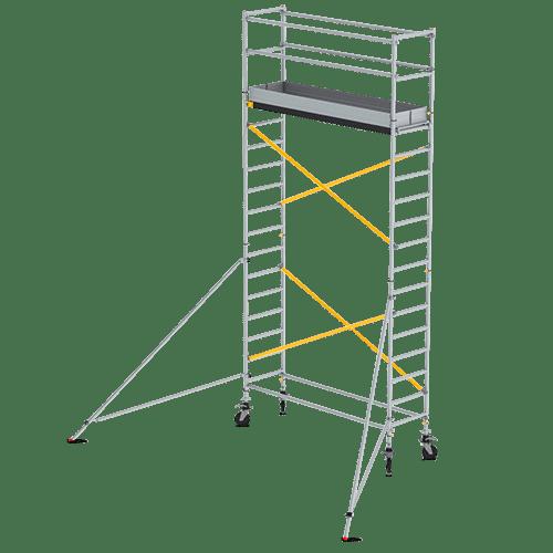 Rental Rusztowanie aluminiowe jezdne – wys. rob. 4,2 m – wym. 2,45 m x 0,75 m