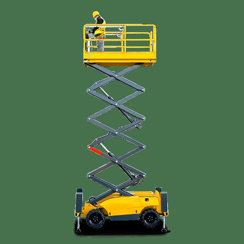 Rental Podnośnik nożycowy terenowy diesel – h.r. 10 m – 3 osob.